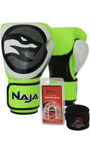 KIT LUVA BOXE COLORS+BANDAGEM+P.BUCAL - NAJA