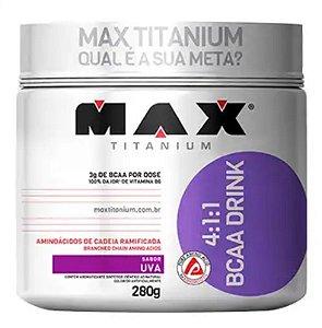 BCAA 4:1:1 DRINK - UVA - 280G - MAX TITANIUM