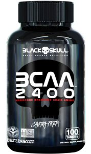 BCAA 2400 CAVEIRA PRETA - 100 TABLETS - BLACK SKULL
