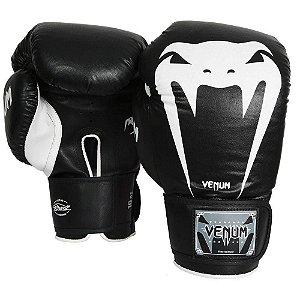 Luva Profissional Boxe Muay Thai Kickboxing Giant Brasil Preta 12 Oz - Venum