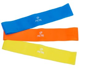 Kit Mini Band 3 Un. - 3 Níveis Diferentes - Acte Sports