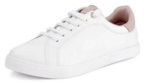 Tênis Caixa Casual Traseiro Quartzo Pele Branco