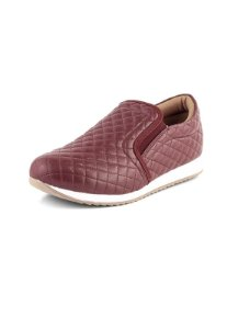Tênis Slip On Matelasse Relax Bordo