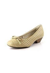 Sapato Salto Baixo Relax Ostra