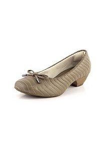 Sapato Salto Baixo Relax Gengibre