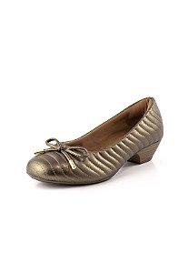 Sapato Salto Baixo Relax Bronze Velho