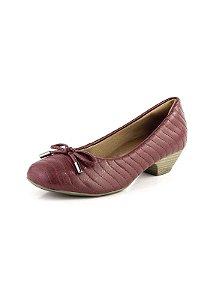 Sapato Salto Baixo Relax Bordo