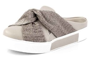 Tênis Slip On Open Laço Croche Natural