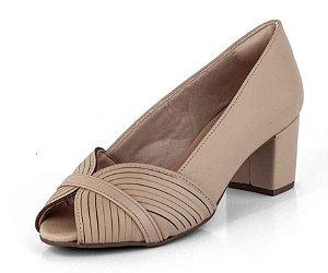 Sapato Peep Toe Tiras Em Circulo New Pele Bistrô