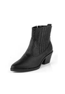 Bota Country Curta Bordado Croco Preto