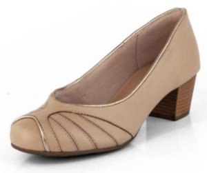 Sapato Salto Baixo New Pele Bistrô