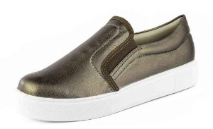 Tênis Casual Slip On Relax Bronze