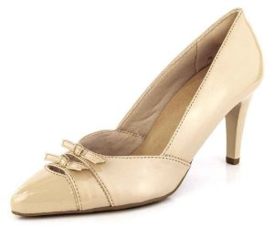 Sapato Scarpin Salto Fino Decotes Verniz Bistrô