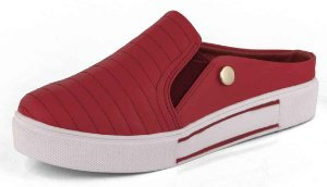 Slip On Mule Matelassê New Pele Campari