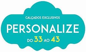 Personalize !  Calçado com Personalização de Cor e Material