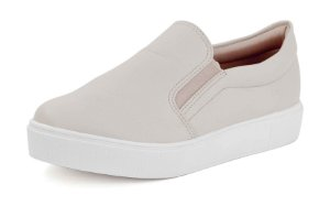 Tênis Casual Slip On Relax Creme