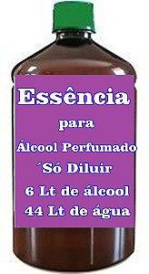 Essência para Álcool perfumado faz 50 Litros