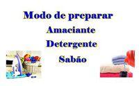 Modo de preparar Produtos de Limpeza