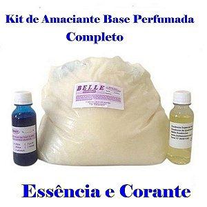 Base para amaciante 3Kg Kit 200ml Essência e Corante faz 120 litros