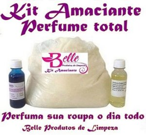 Kit Base de Amaciante Concentrado Perfuma dia Todo faz 50 Lts