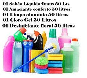 Kit 5 produtos de limpeza