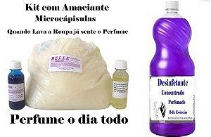 Kit Base para Amaciante Microcápsulas + Desinfetante faz 50 Lts