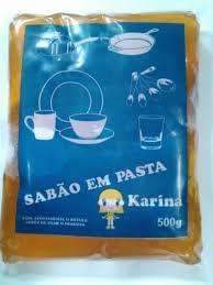 Sabão em pasta 500 gr 12 peças