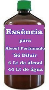 Essência para Fazer Álcool perfumado faz 100 Lts só diluir na água