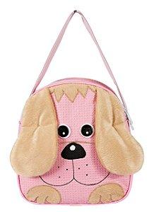 Lancheira cachorrinha cor de rosa