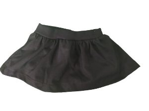 Tapa fraldas short saia preto