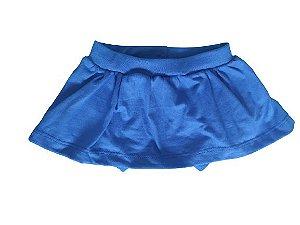 Tapa fraldas short saia azul