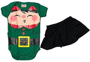 Conjunto duende (body + short saia)