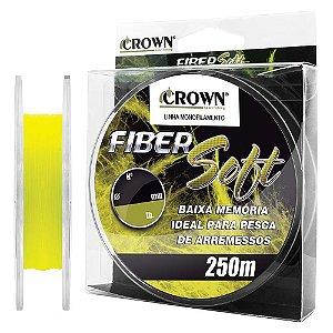 Linha Monofilamento Fiber Soft Crown 250 Metros - Div Diametros e Cores