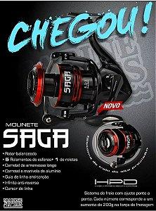 Molinete Saga 4000 6 Rolamentos Fish Tv - Drag 8 Kg