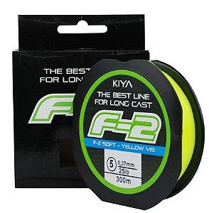 Linha KIYA F2 - monofilamento soft Amarela (300 m) - diâmetros)