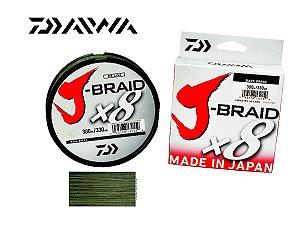 Linha Multifilamento J Braid Daiwa 8X Diâmetros