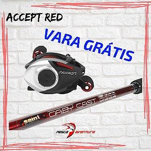 Carretilha Accept 10000 RED E/D + Vara Gaby Cast GRATIS Saint Plus