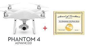 Drone Phantom 4 Advanced + Curso de Drone DJI Phantom e Mavic - Foco em Foto e Filmagem