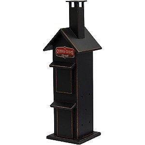 Porta incenso casinha preta
