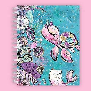 Caderno Ilustrado Fundo do Mar