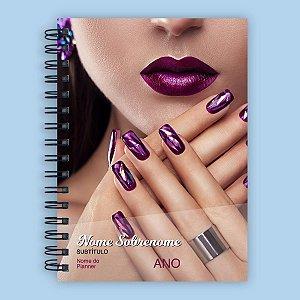 Planner de Agendamento Portátil - Manicure