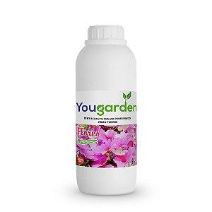 Fertilizante Adubo Foliar Organomineral Perfumado Yougarden Flores 1 Litro Concentrado