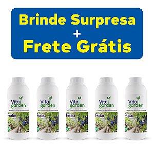 5x Fertilizante Adubo Vita Garden Frutas 1 L Concentrado Frete Grátis