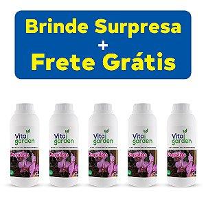 5x Fertilizante Adubo Vita Garden Orquídeas 1 L Concentrado Frete Grátis
