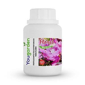 Fertilizante Adubo Foliar Organomineral Perfumado Yougarden Flores 250ml Concentrado