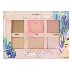 PALETA HIGHLIGHT CONTOUR BLUSH CHEEK PLAY RUBY ROSE