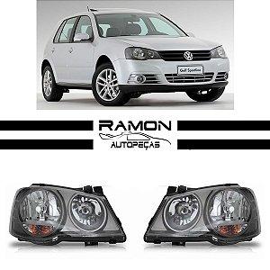Farol Dianteiro VW Golf 2008 2009 2010 2011 2012 2013 Cinza