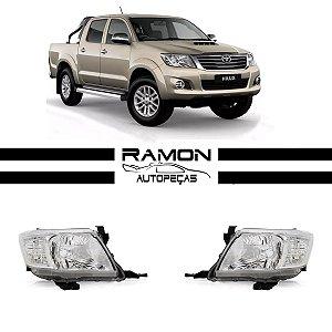Farol Dianteiro Toyota Hilux SR SRV 2012 2013 2014 2015 Cromado