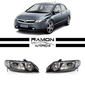 Farol Dianteiro Honda New Civic 2007 2008 2009 2010 2011 Foco Duplo