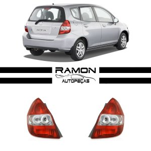 Lanterna Traseira Honda Fit 2003 2004 2005 2006 2070 2008